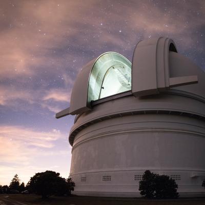 Palomar Observatory at sunset.