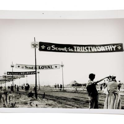 Another archive photo of the Boy Scout Jamboree; 50,000 scouts attended.