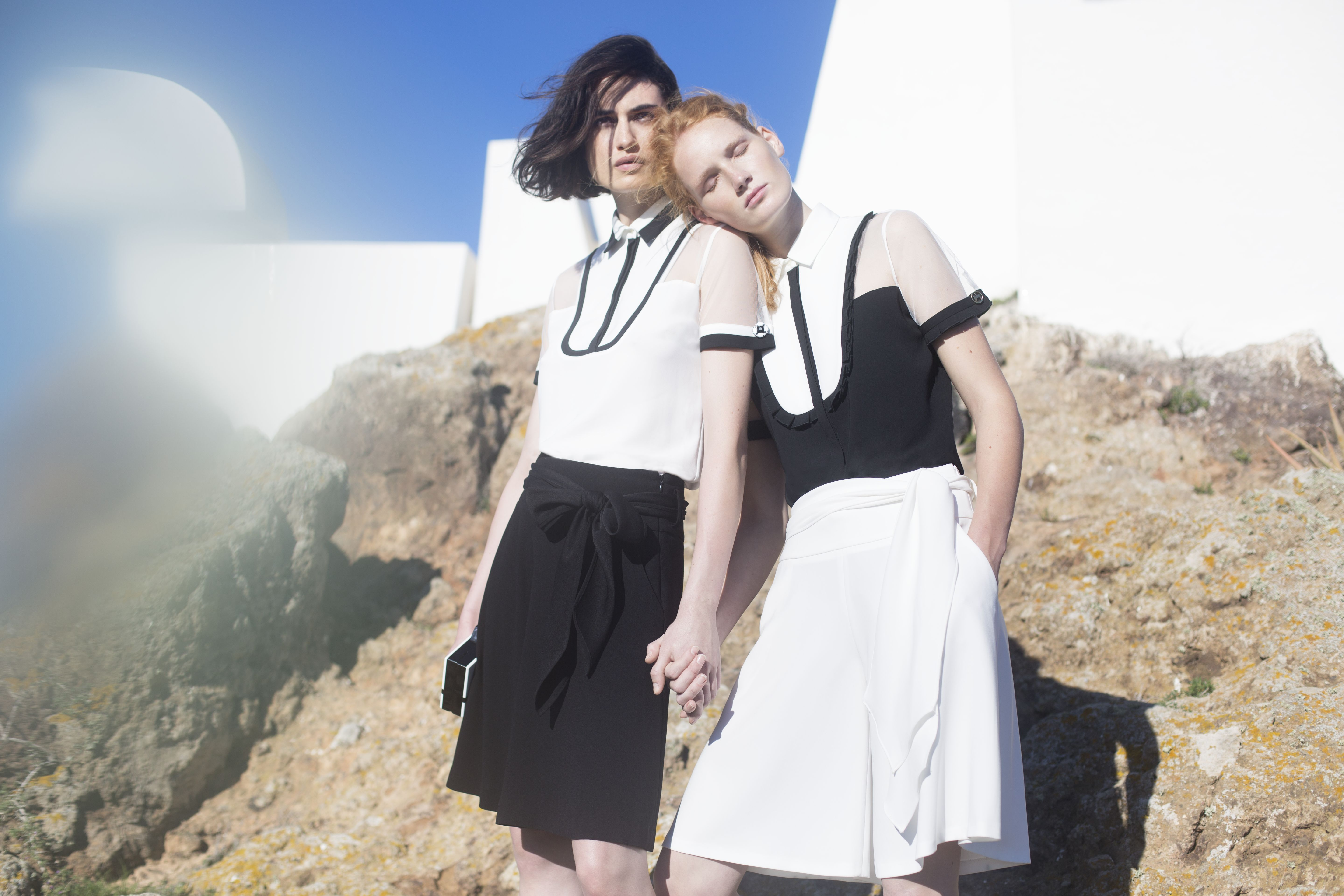 Designer Anne Fontaine's Spring Summer 2016 collection features crisp black and white looks