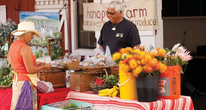 A farmers' market in Waimea, on the Island of Hawai'i.