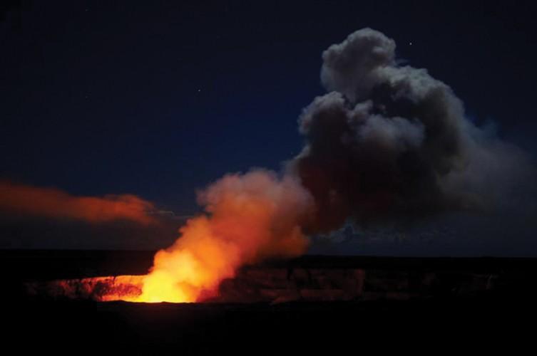 Kilauea volcano on the big island of Hawaii.
