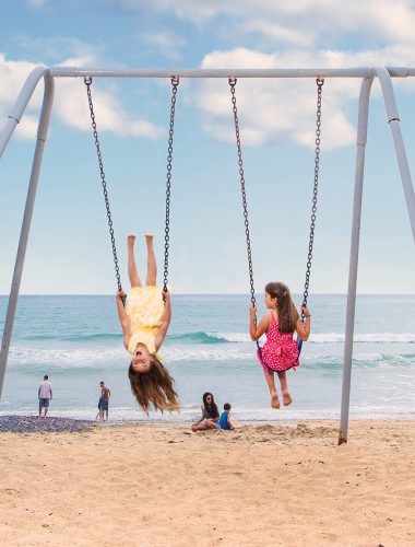 Swings at North Beach in San Clemente. Photo by Priscilla Iezzi