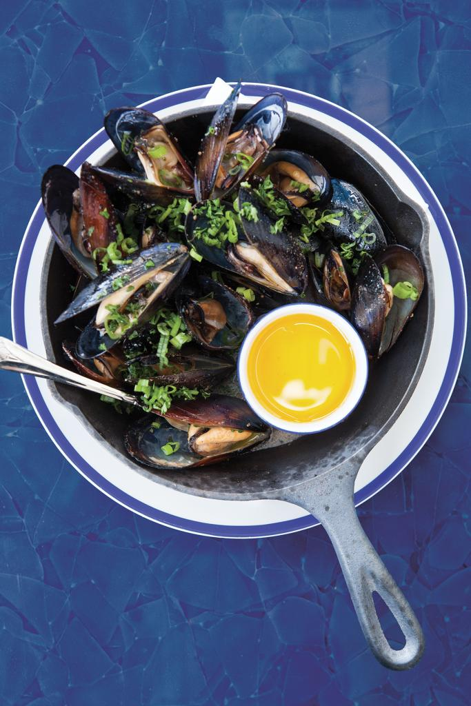 Restaurant Marin Skillet Mussels with Butter