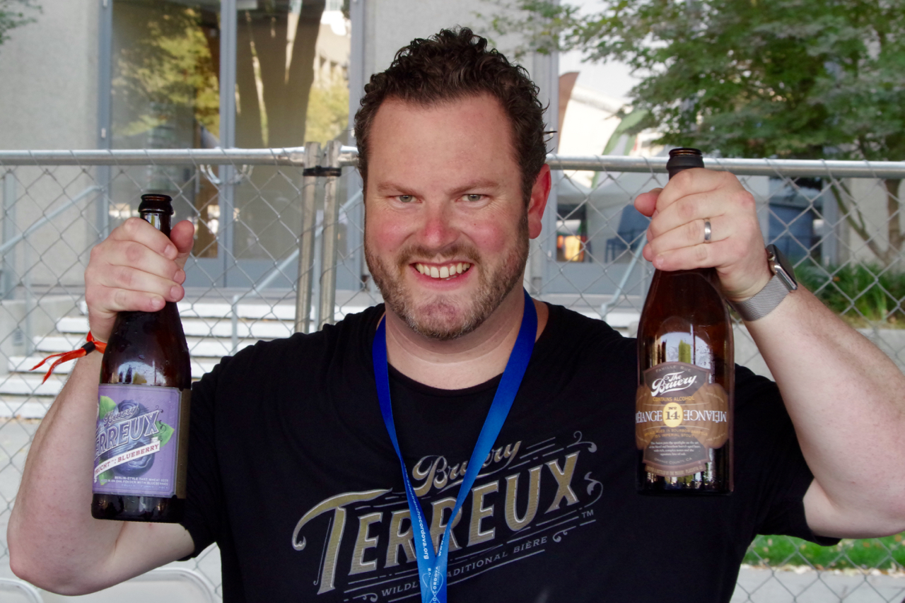 Patrick Rue of The Bruery poured all four hours of the festival.