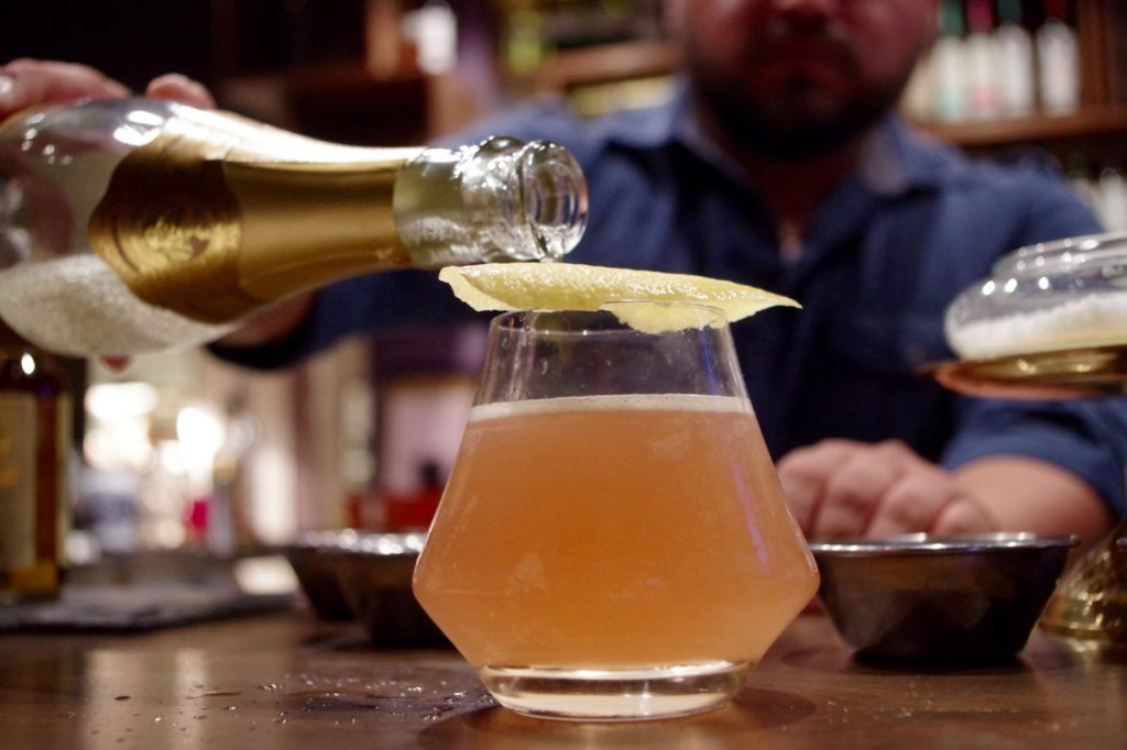 El Mercado's French 75; Cognac, Lemon, Champagne