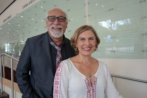 Karen Zacarias with director José Luis Valenzuela. Photo is Courtesy of South Coast Repertory.