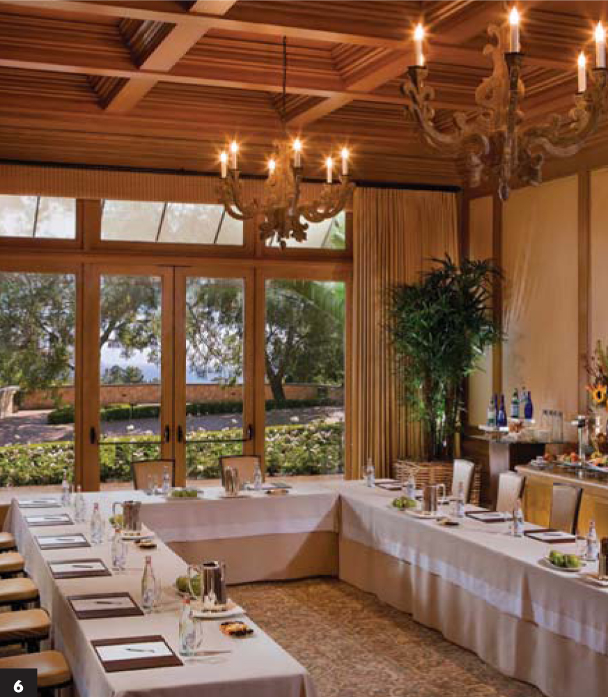 6/ The resort also offers corporate meeting space