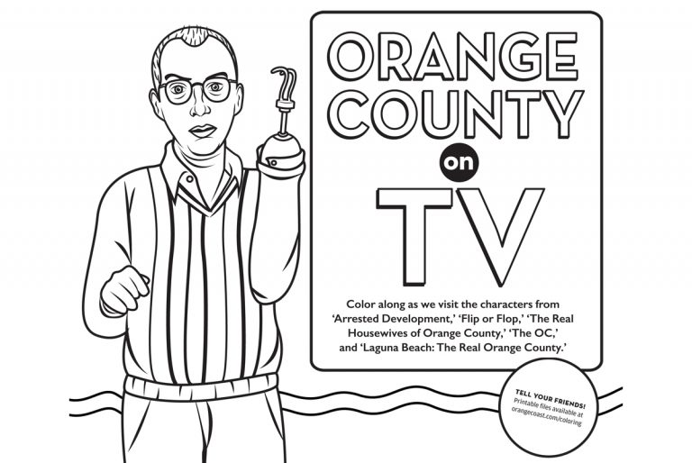 Orange County on TV Coloring Contest