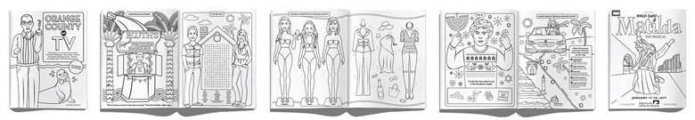 Orange county on TV coloring book