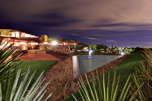 The public is welcome to take the Night Lights Tour on Fridays at Taliesin West. Photo: Andrew Pielage