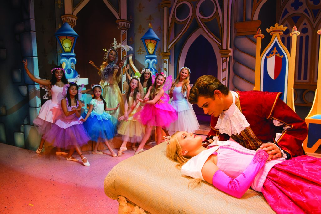"Olivia Holt and Garrett Clayton from the 2014 production of ""Sleeping Beauty"""