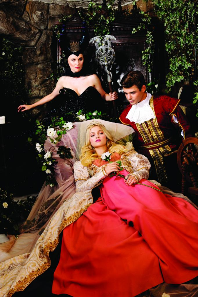 "Lucy Lawless, Olivia Holt, and Garrett Clayton from the 2014 production of ""Sleeping Beauty"""