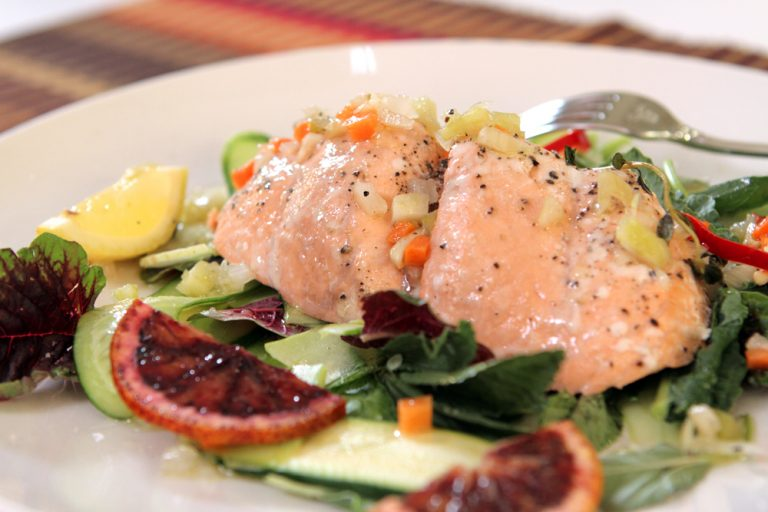 VIDEO: Making Scrumptious Salmon With Herb-Spiked Soffrito With Chef Michael Doctulero
