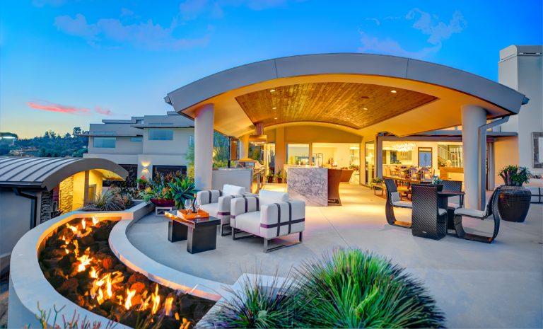 A $10 Million Hollywood Hills-esque Yorba Linda Home High on a Hilltop