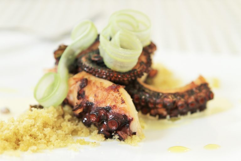 VIDEO: Watch Old Vine Cafe Chef/Owner Mark McDonald Make Braised Octopus