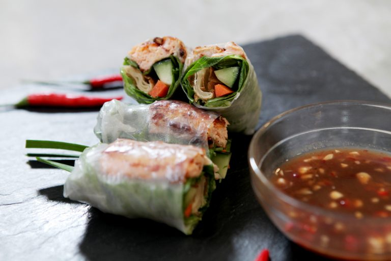 VIDEO: Garlic & Chives' Chef-Owner Prepares Possibly the World's Best Salmon Spring Rolls