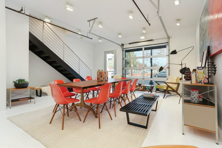 This Modern Loft In Santa Ana Shows How to Live and Work With Style in the Same Space
