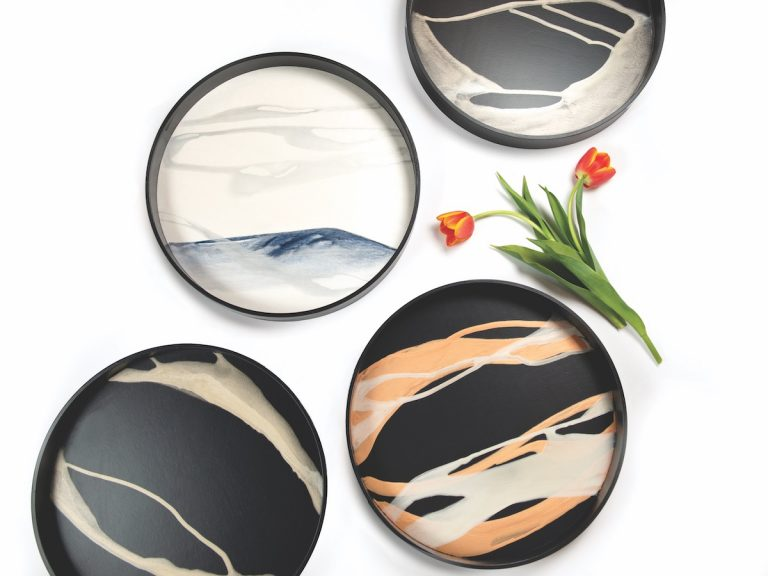 Tray Chic: Hand-Painted Designs Use Nature for Inspiration