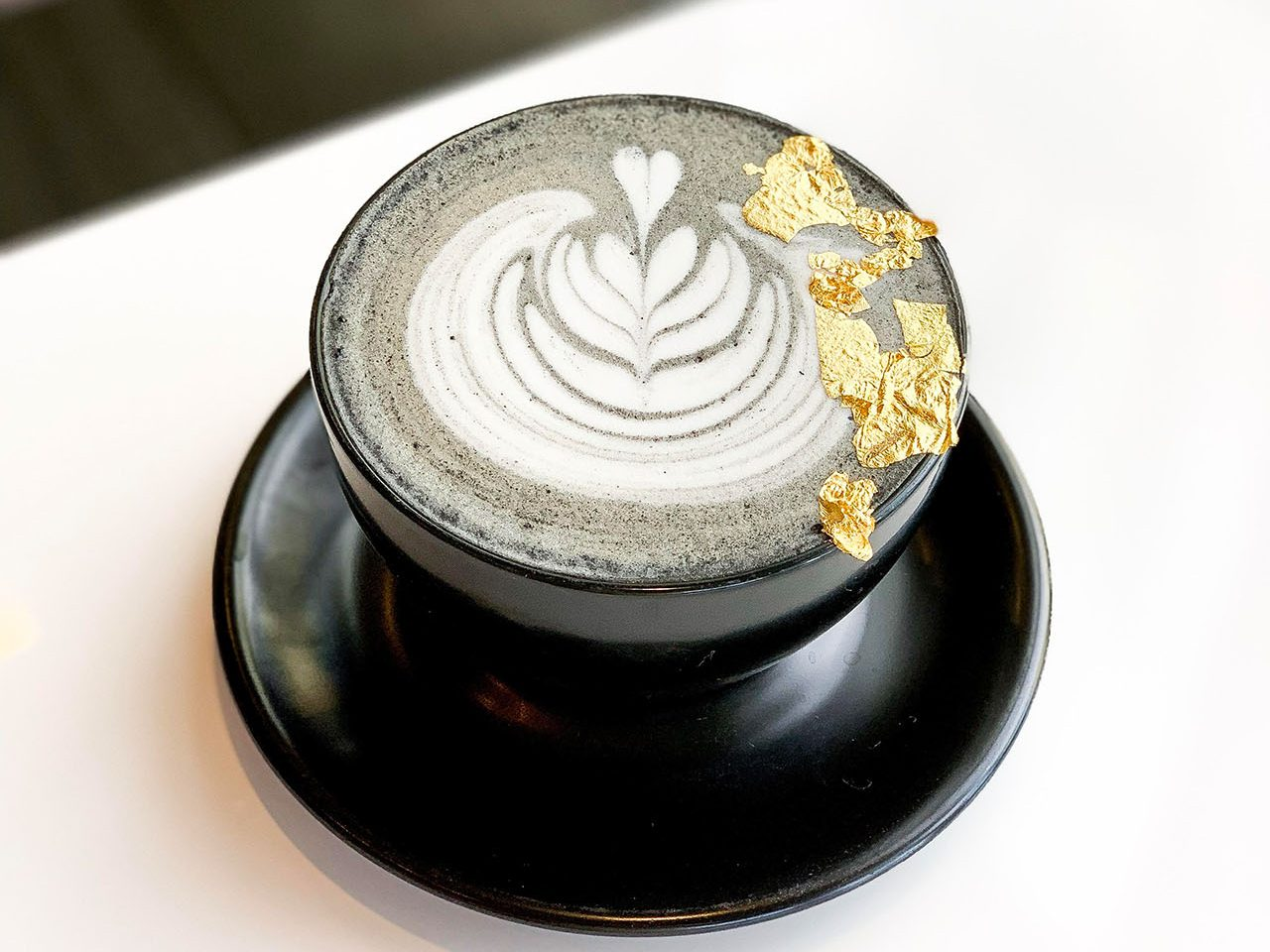 Insta-Hit: The Black and Gold Latte at Feen Coffee in Huntington Beach