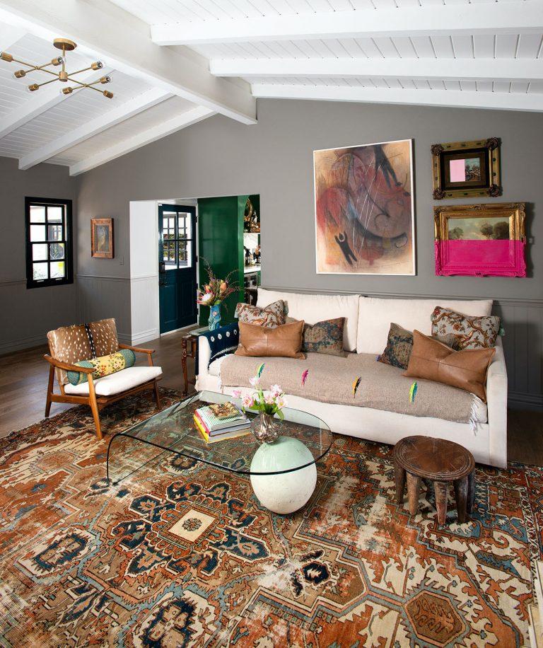 A Newport Beach Interior Designer's Eclectic Living Room