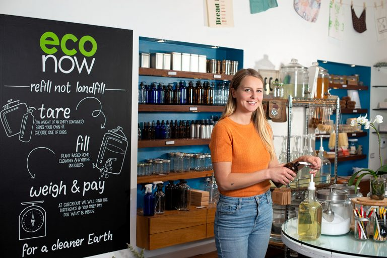 Thea Merritt is the Owner of Eco Now, O.C.'s First Zero-Waste Shop and Refill Station