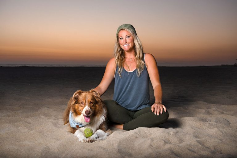 "Newport Beach Yoga Instructor Chelsey Lowe Competes With Her Dog on Amazon's ""The Pack"""