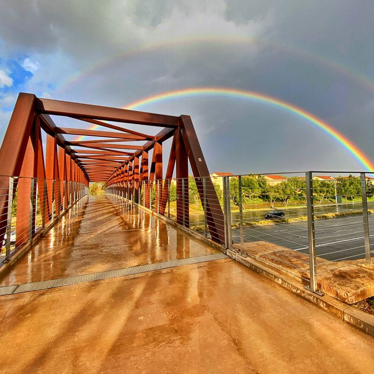 In Plain Sight: A Double Rainbow in Irvine