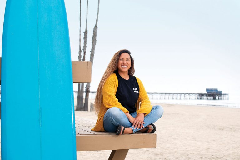 Costa Mesa Resident Vanessa Yeager is the Founder of Women Who Surf and Latinx Surf Club