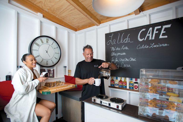 Ed Stefanovic of Huntington Beach Built a Mini Coffeehouse in His Backyard