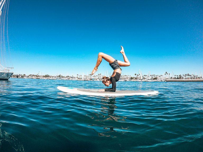 SUP Yoga at Huntington Harbour