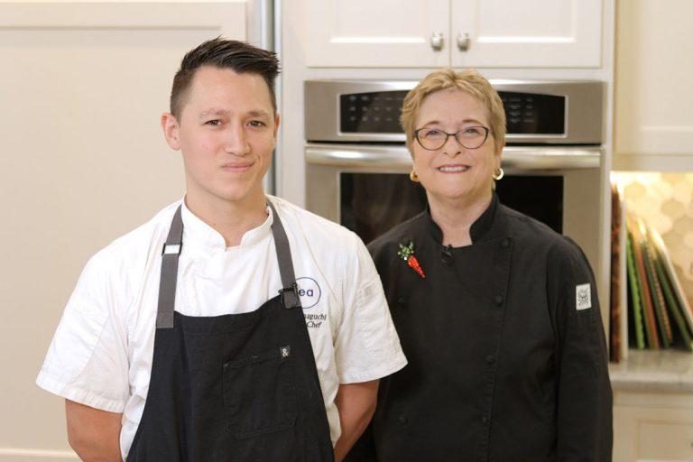 O Sea Executive Chef David Yamaguchi Makes Salmon Ceviche with Cathy Thomas